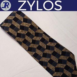 "👔George Machado Silk Tie Blue, Gray 56 1/2"""